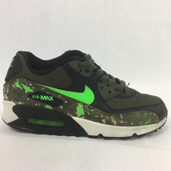 2bfc567519392 Nike Shoes | Youth Air Max 90 Camo Green Size 65y Boys | Poshmark